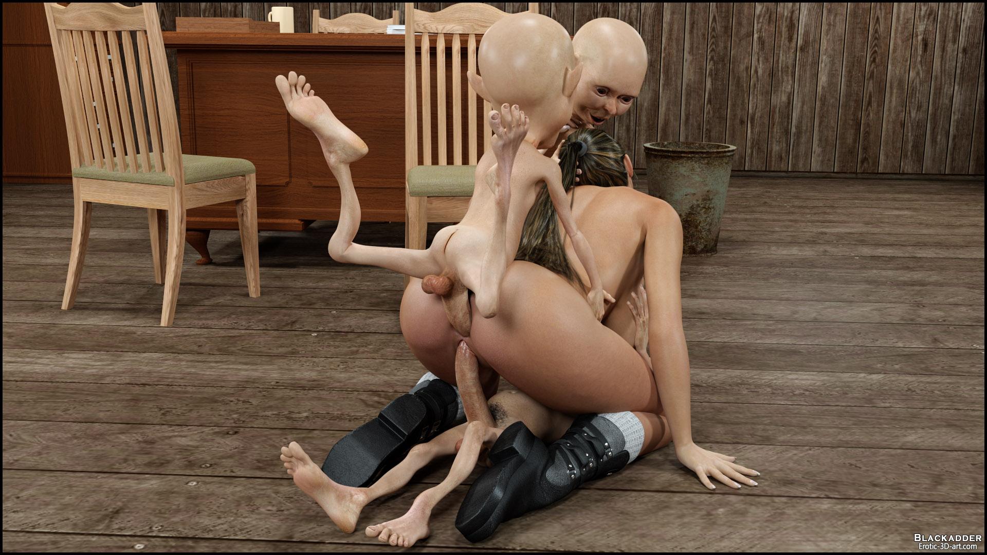 3D Monster Gangbang busty girls gisela gangbangedaliens 3d monsters hentai