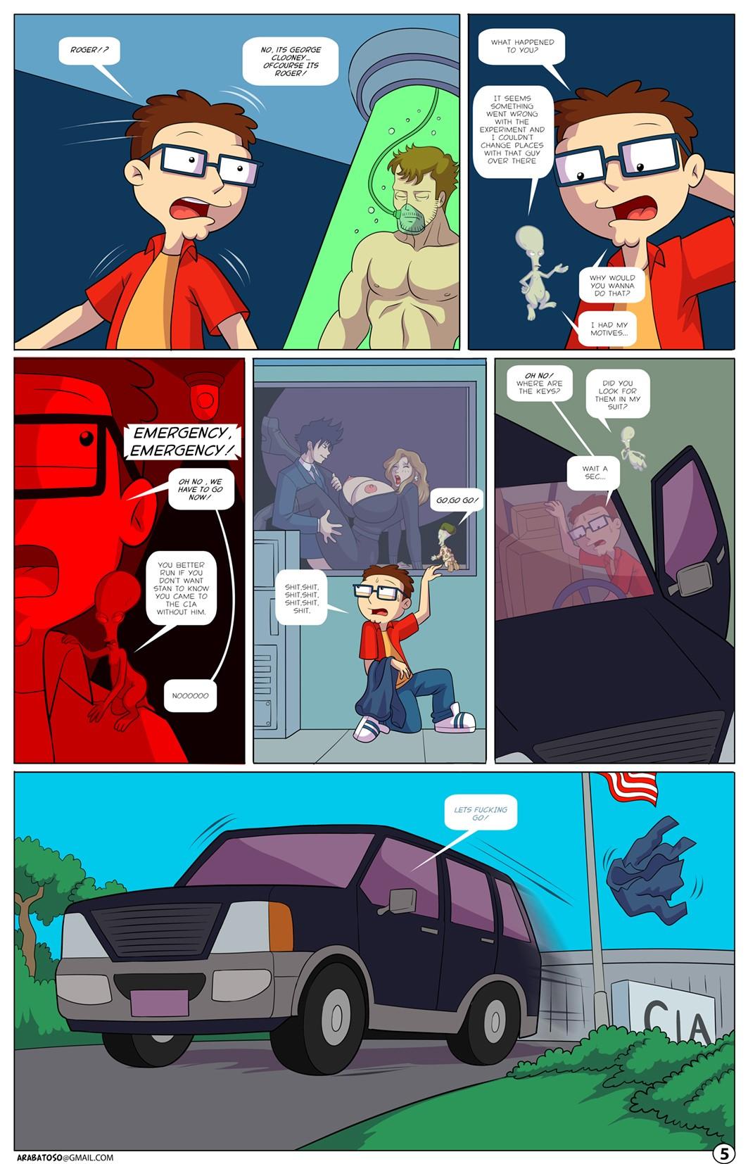 Animated American Dad Porn arabatos sex comics - tales of an american son parody on