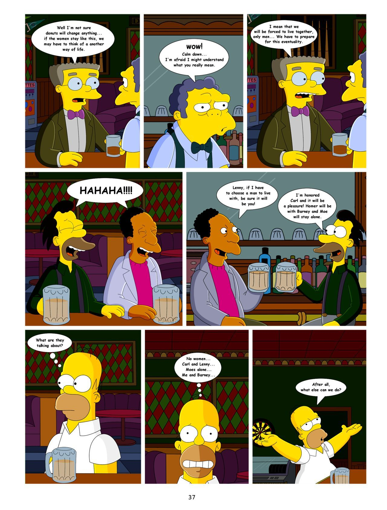 Barney Simpson Porn the simpsons sex comixs - conquest of springfield 2 - porn